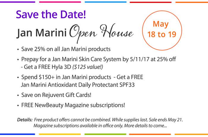 Open House Jan Marini 5/18