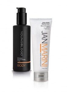 Youngblood body tint and jan marini body block available at Rejuventskincare.com
