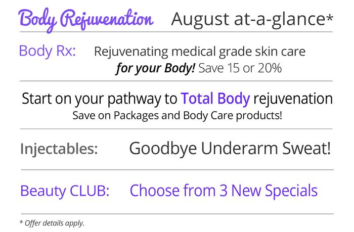 August specials at Rejuvent