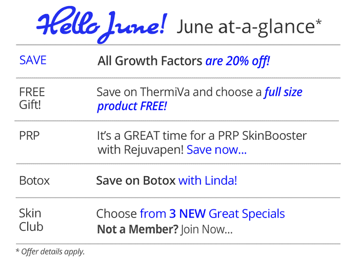 June specials at Rejuvent