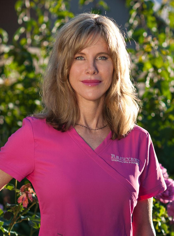 Dr Kelly Bomer Pink Scrub