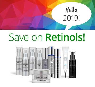 Bottles of Retinol on sale