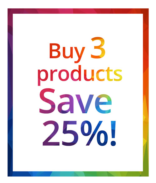 Save 20% on 3 products