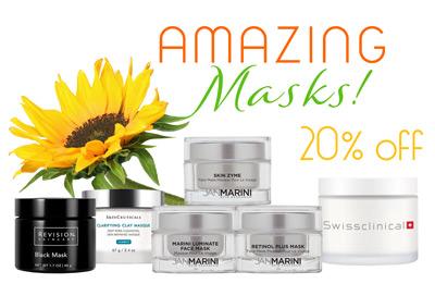 Skincare masks jars