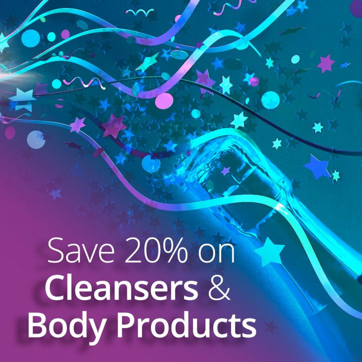 Sale graphic - save on cleansers and body products