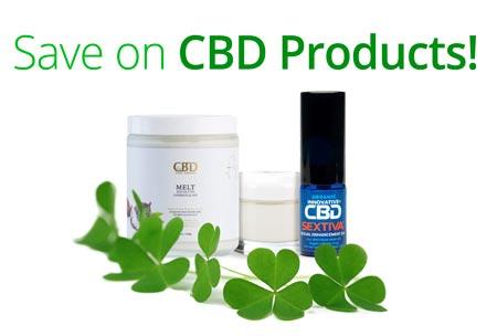 CBD products sale banner